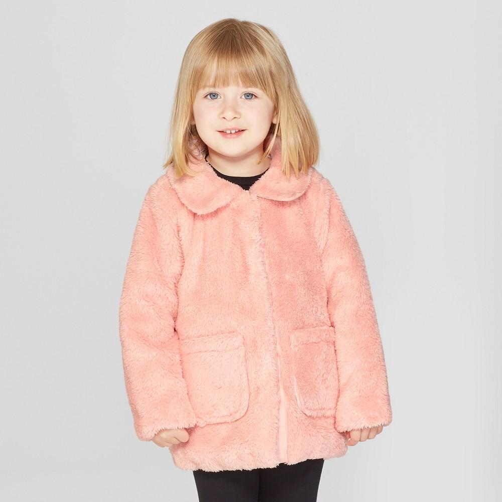 Toddler Girls' Faux Fur Jacket - Cat & Jack Pink 18M