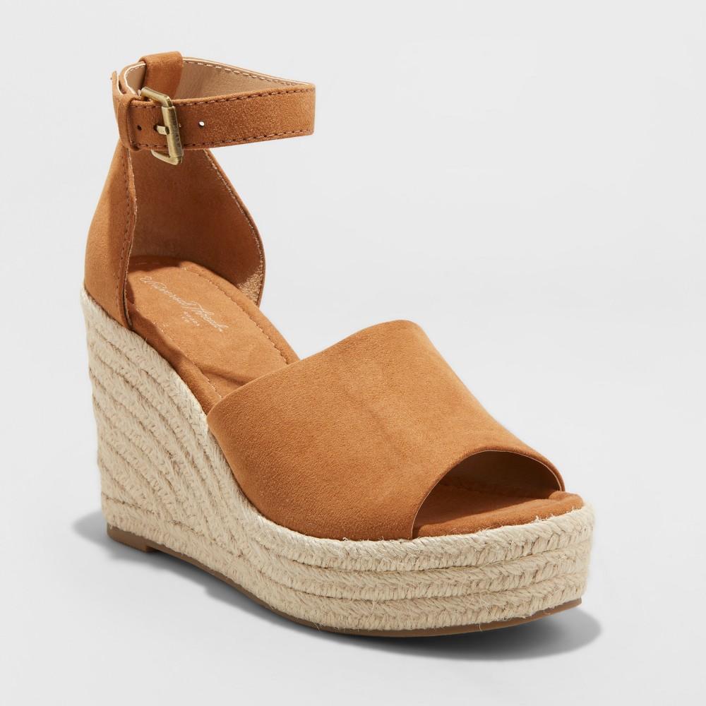 Women's Emery Wide Width Espadrille Sandals - Universal Thread Chestnut (Brown) 6.5W, Size: 6.5 Wide