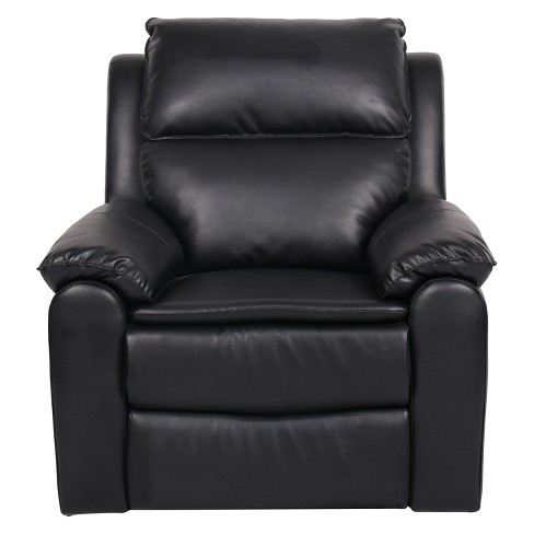 Warren Two Position Faux Leather Recliner Arm Chair Relax A Lounger