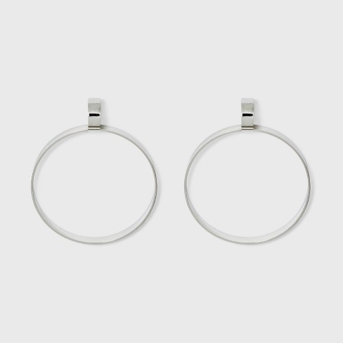 Open Circles Linked With Post Back Metal Hoop Earrings A New Day