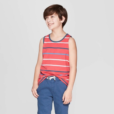Boys' Striped Tank Top - Cat & Jack™ - image 1 of 3