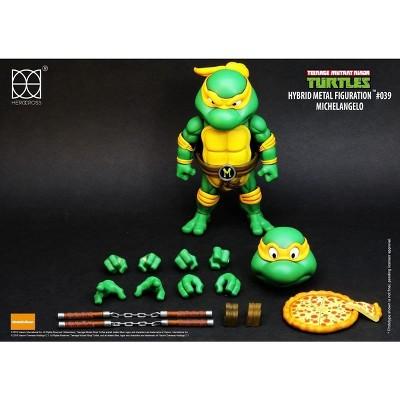 Herocross Company Limited Teenage Mutant Ninja Turtles Hybrid Metal Figuration Action Figure  Michelangelo