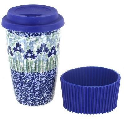 Blue Rose Polish Pottery Brienna Travel Coffee Mug