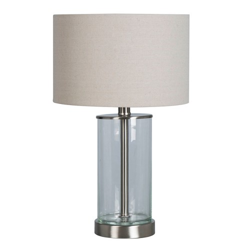 Usb Fillable Accent Table Lamp Brushed Nickel Project 62