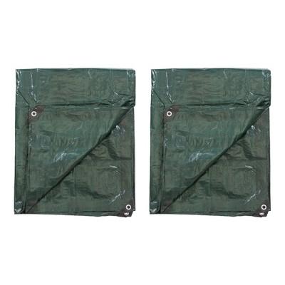 Stansport Medium-Duty Rip-Stop Tarp 5' x 8' - Forest Green - 2 Pack