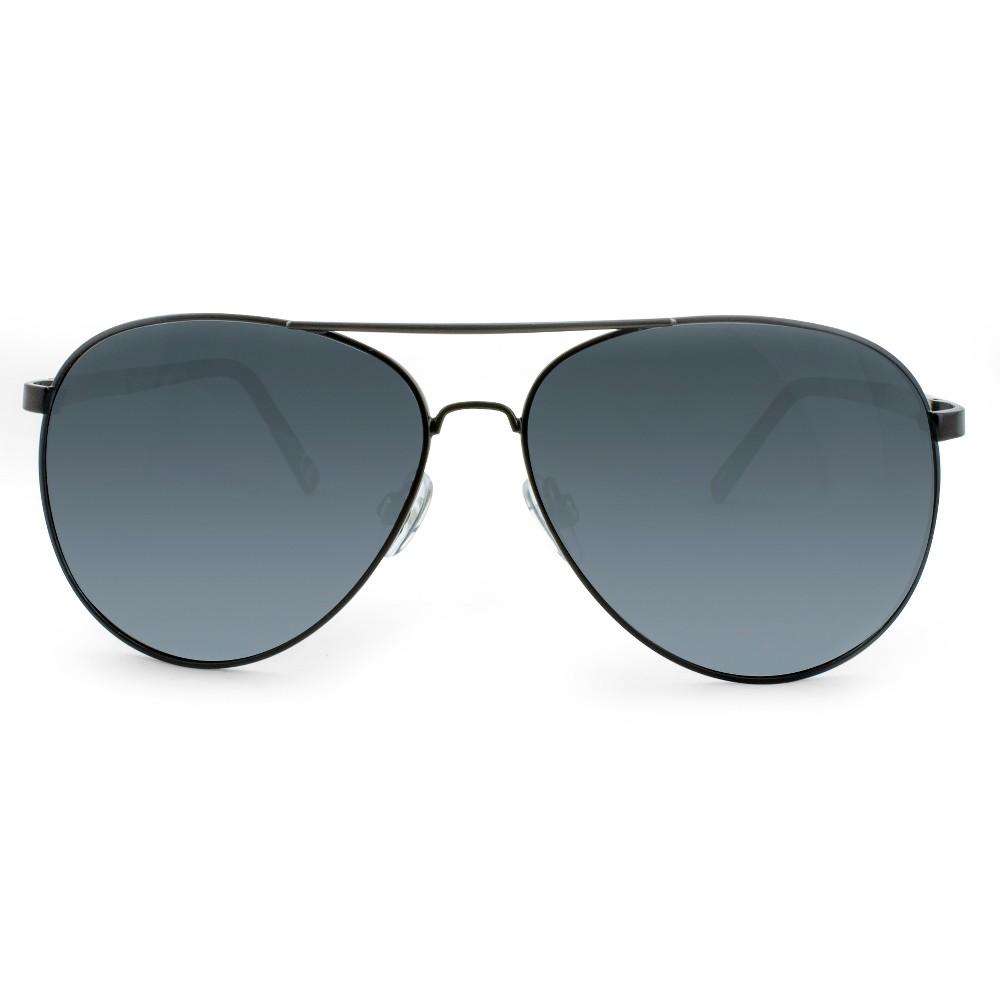 1940s Sunglasses, Glasses & Eyeglasses History Mens Polarized Aviator Sunglasses - Goodfellow  Co Black $19.99 AT vintagedancer.com