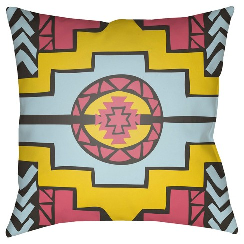 "Yindi Aztec Medaillion Throw Pillow 22""x22"" - Surya - image 1 of 2"
