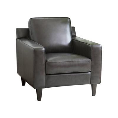 Olivia Top Grain Leather Armchair - Abbyson Living