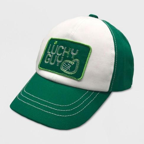 Baby Boys' St Patricks Baseball Hat - Cat & Jack™ Green 12-24M - image 1 of 2