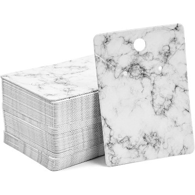 200-Sheet Jewelry Display Cards for Earring & Necklace, Self Seal Bag Included (Marble, 2 x 2.8 inches)