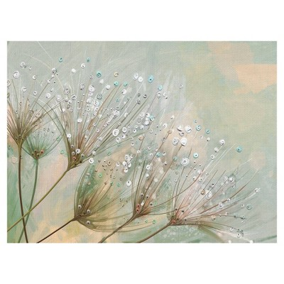 Dewdrop Colors By Studio Arts Wrapped Unframed Wall Canvas - Masterpiece Art Gallery