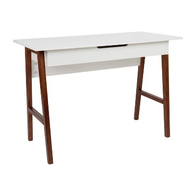 Merrick Lane Home Office Writing Computer Desk with Drawer - Table Desk for Writing and Work