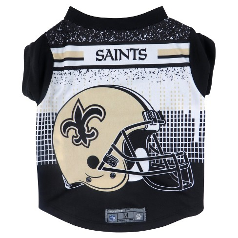 New Orleans Saints Little Earth Pet Performance Football T-Shirt - Black XS    Target ece587f99