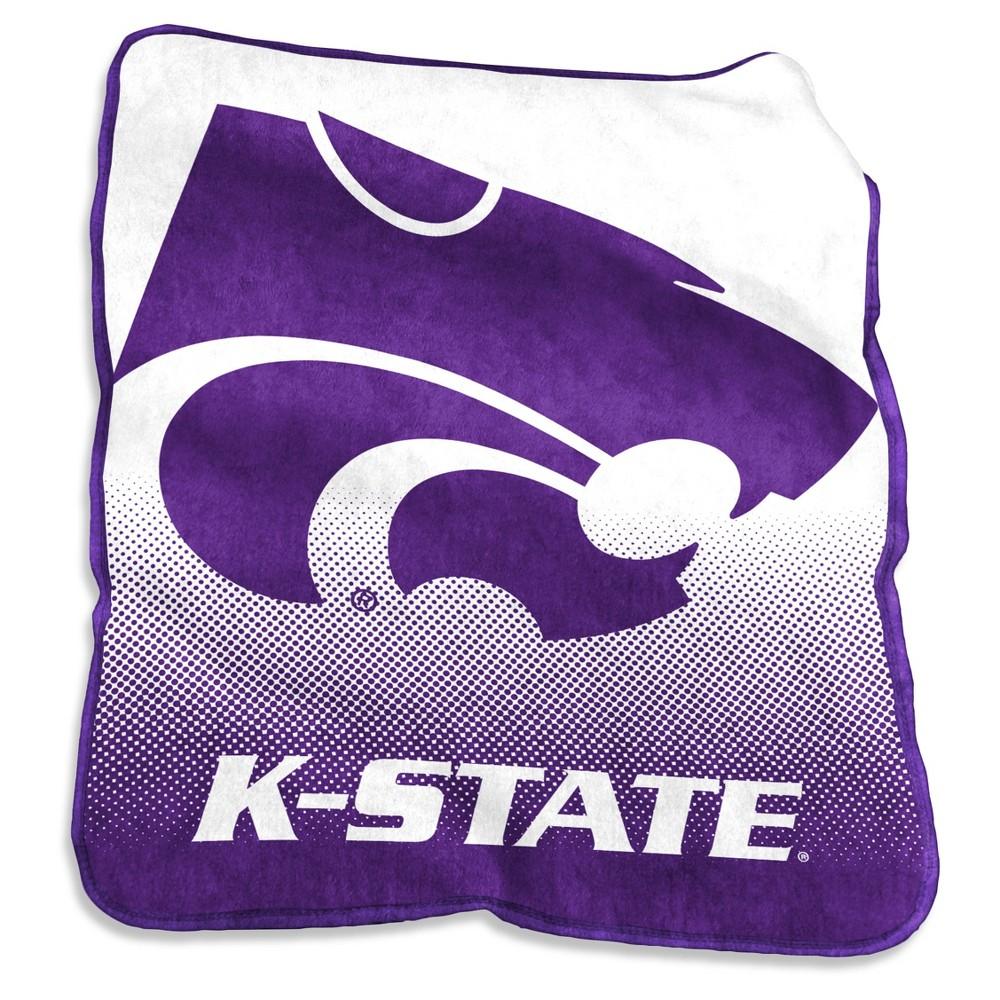 NCAA Kansas State Wildcats Logo Brands Raschel Throw Blanket