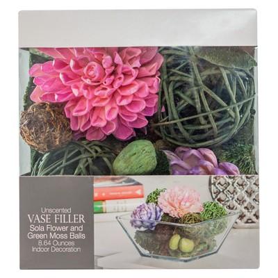 Floral Vase Filler Pink/Green 8.64oz - Lloyd & Hannah