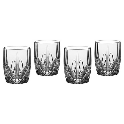Marquis by Waterford Brookside Crystal Double Old-Fashioned Glass 12oz - Set of 4