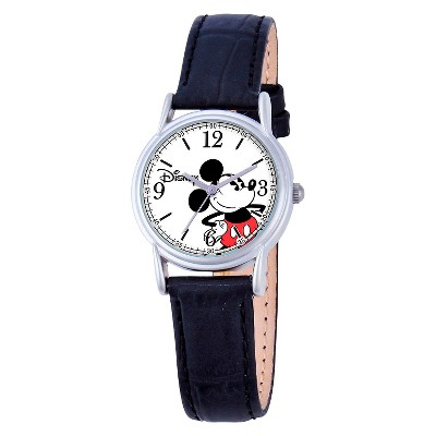 Women's Disney Mickey Mouse Cardiff Watch - Black