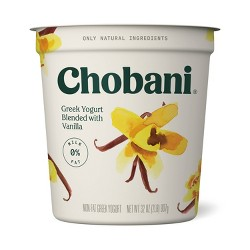 Chobani Vanilla Blended Nonfat Greek Yogurt - 32oz