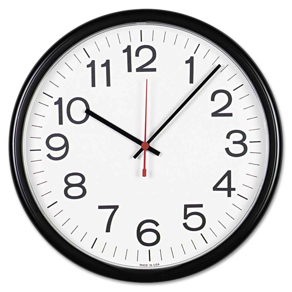"""Image of """"13½"""""""" Indoor/Outdoor Clock White/Black - Universal"""""""