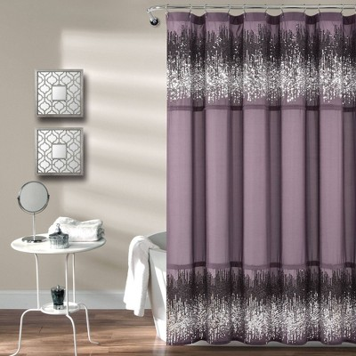 Single Shimmer Sequins Shower Curtain - Lush Décor