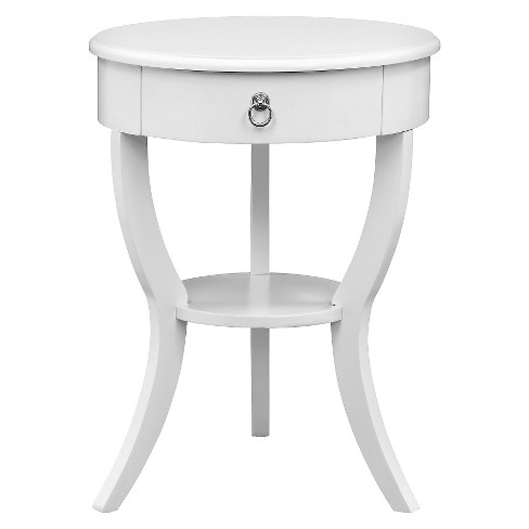 Edna 1-Drawer Accent Table White - Inspire Q - image 1 of 4