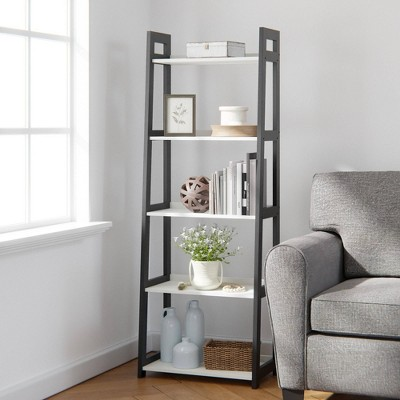 """67"""" Annabelle 5 Tier Ladder Bookcase - Brookside Home"""