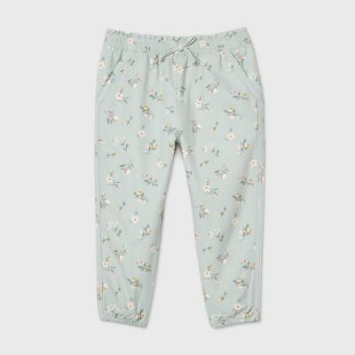 OshKosh B'gosh Toddler Girls' Floral Fashion Pants - Green 12M