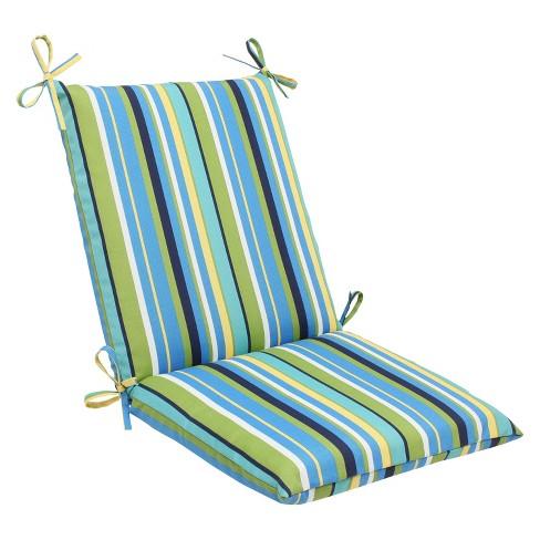 Pillow Perfect Outdoor Square Edge Seat Cushion - Topanga Stripe - image 1 of 2