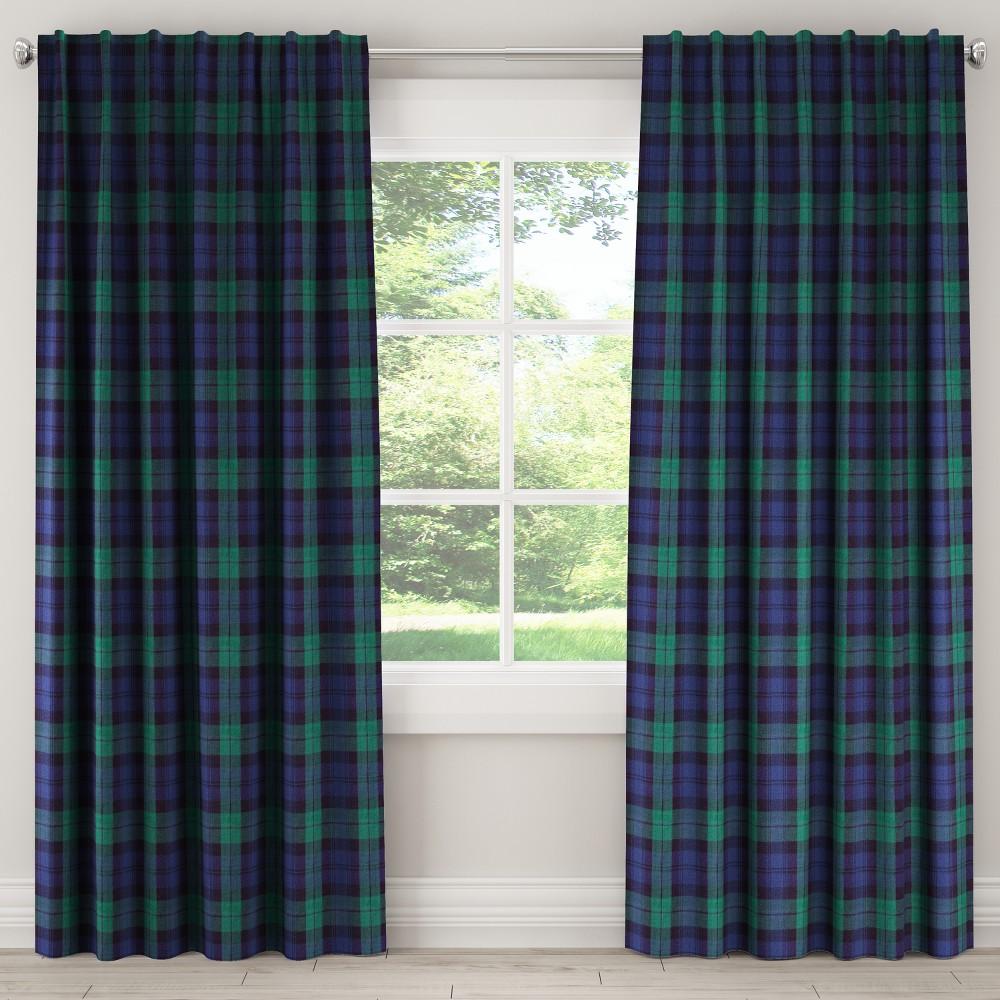 Unlined Curtain Blackwatch 84L - Skyline Furniture, Blue