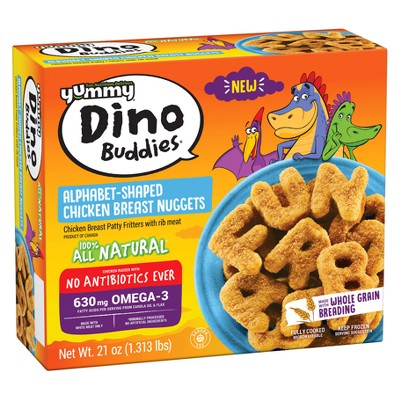 Yummy Whole Grain Alpha Buddies Chicken Breast Nuggets - Frozen - 21oz