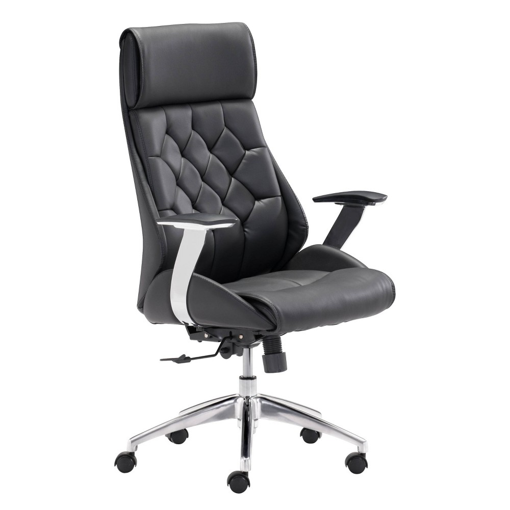 Modern Tufted Adjustable Office Chair - Black - ZM Home Discounts