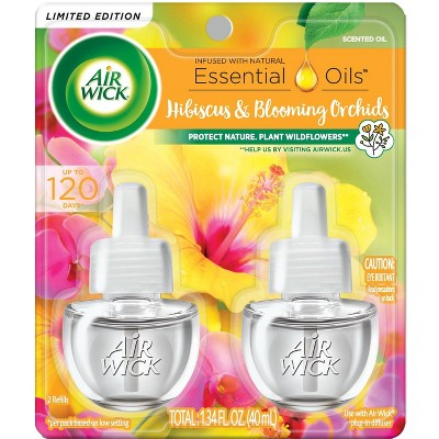 Air Wick Scented Oil - Twin Refill Hibiscus and Blooming Orchids - 1.34 fl oz
