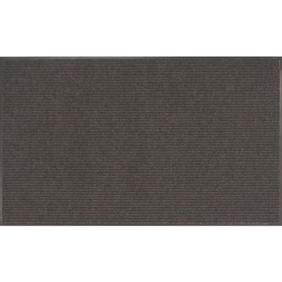 3'X5' Stripe Almost Black Rug - Apache Mills