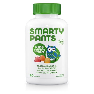 Smarty Pants Kids Fiber Complete Multivitamin Dietary Supplement Gummies - 90ct
