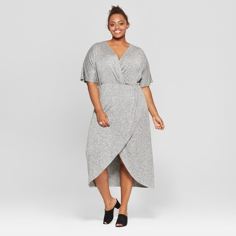 879e376b1a25a Women s Plus Size Twist Front Midi Dress - Ava   Viv™   Target