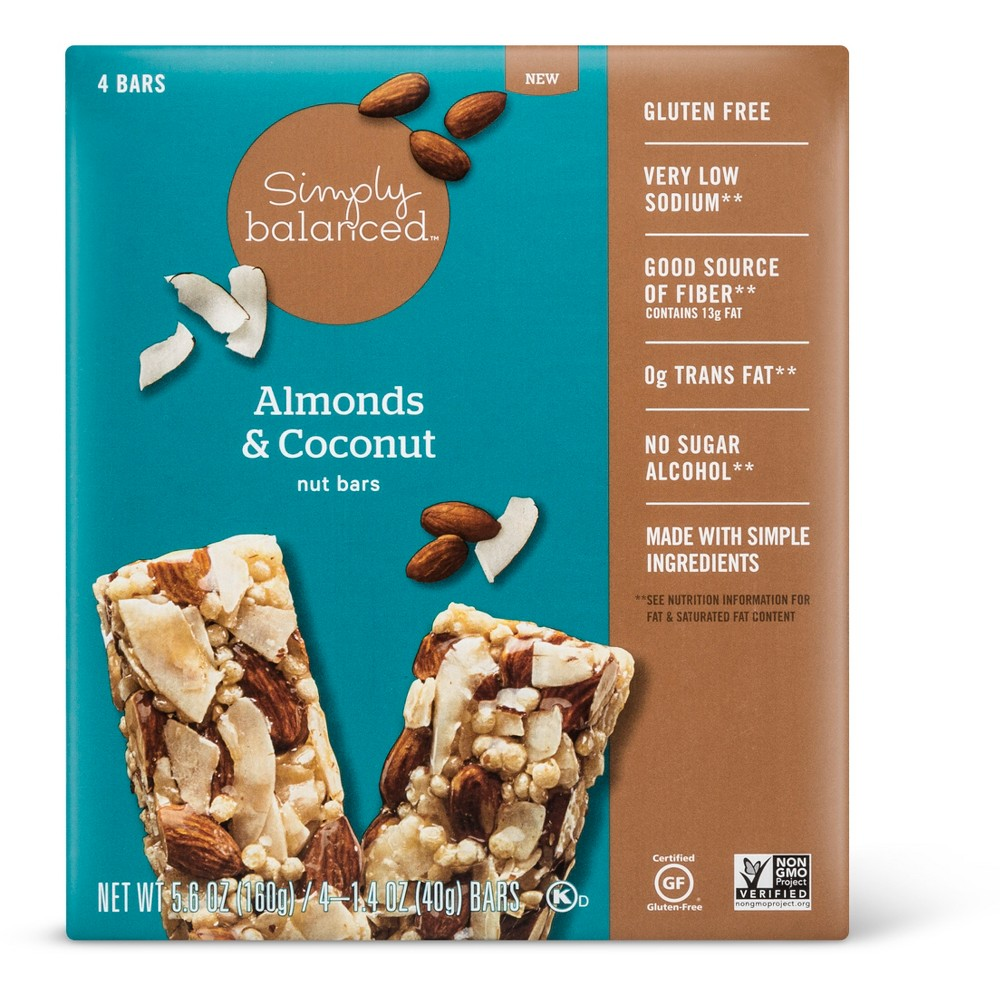 Almonds & Coconut Nut Bars - 4ct - Simply Balanced