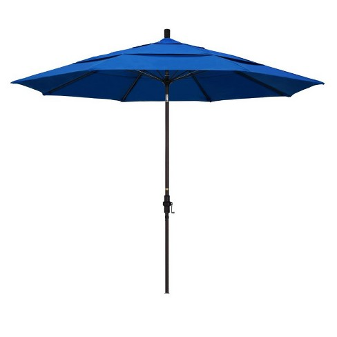 11' Patio Umbrella in Royal Blue - California Umbrella - image 1 of 2