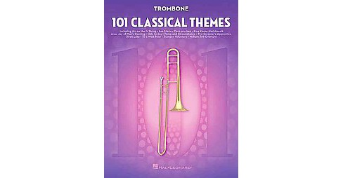 101 Classical Themes for Trombone (Paperback) - image 1 of 1