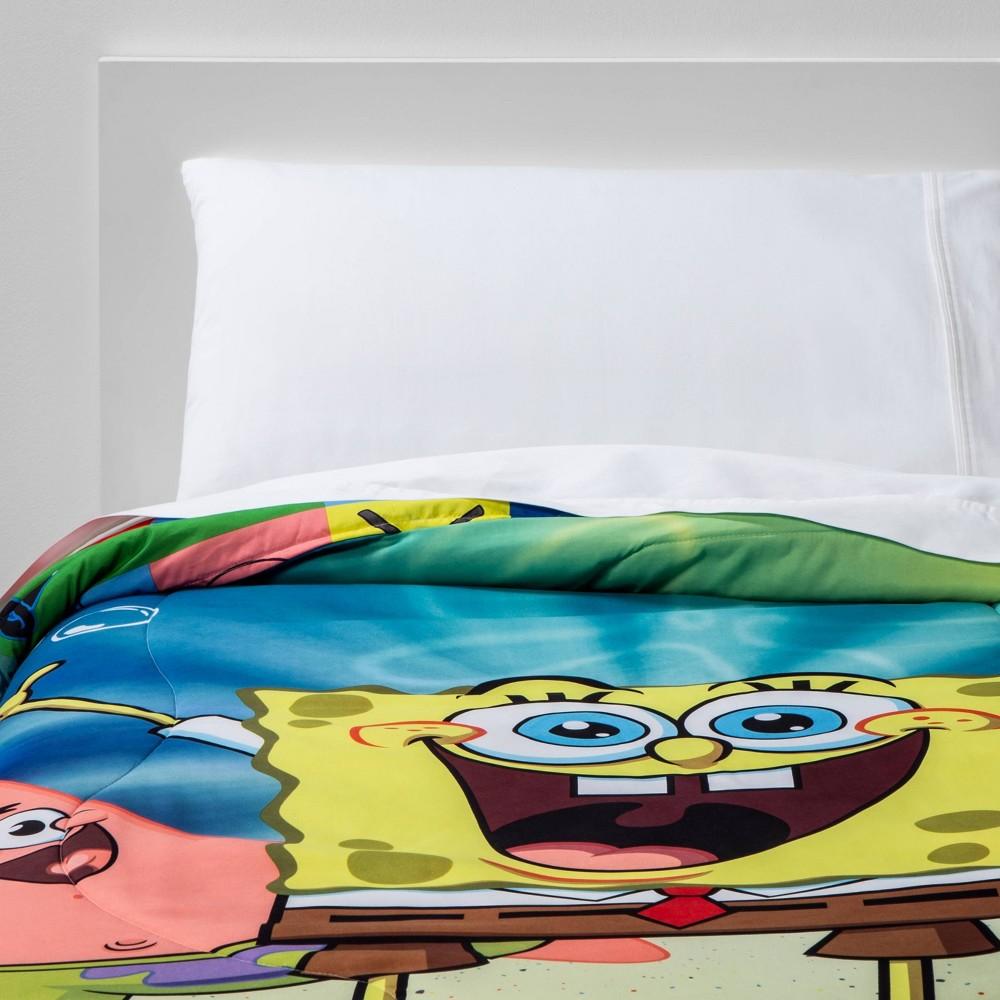 Image of Twin SpongeBob Sea Adventures Reversible Comforter