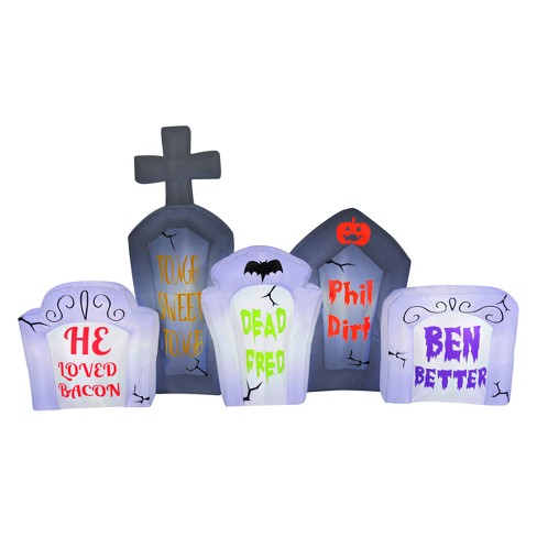 Halloween 8ft LED  Flashing Lights Tombstone Scene Inflatable - Hyde and Eek! Boutique™ - image 1 of 1