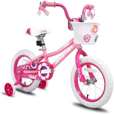 Joystar Petal 12 Inch Kids Toddler Pedal Bike Bicycle with Training Wheels, Rubber Air Tires, and Coaster Brakes, for Ages 2 to 4