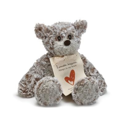 DEMDACO Mini Giving Bear- Love 8.5 inches - Brown
