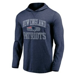 NFL New England Patriots Men's Block Arch Lightweight Hoodie