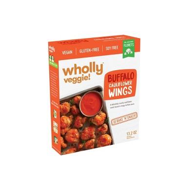 Wholly Veggie! Gluten Free and Vegan Frozen Buffalo Cauliflower Wings - 13.2oz