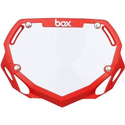 BOX Two BMX Number Plate Red Small