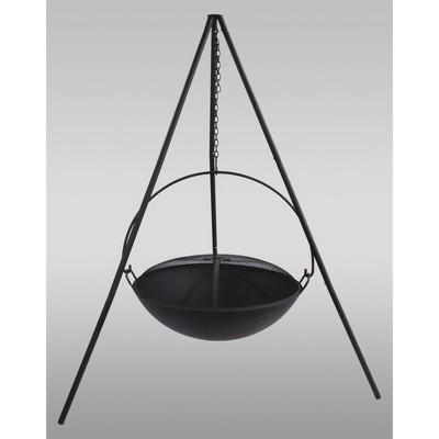 Hanging Wood Burning Fire Bowl - Black - Catalina Creations