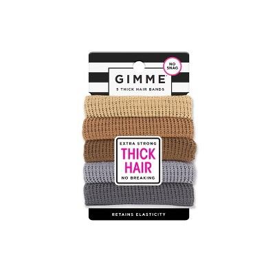 Gimme Clips Thick Hair Bands - Neutral - 5ct