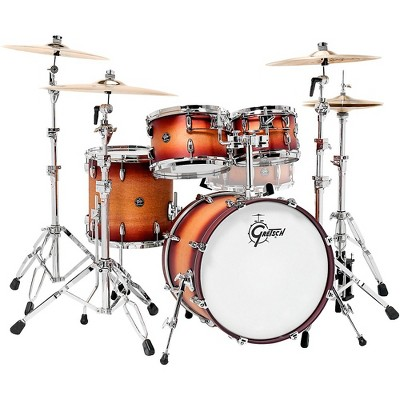 "Gretsch Drums Renown 4-Piece Shell Pack with 20"" Bass Drum Satin Tobacco Burst"