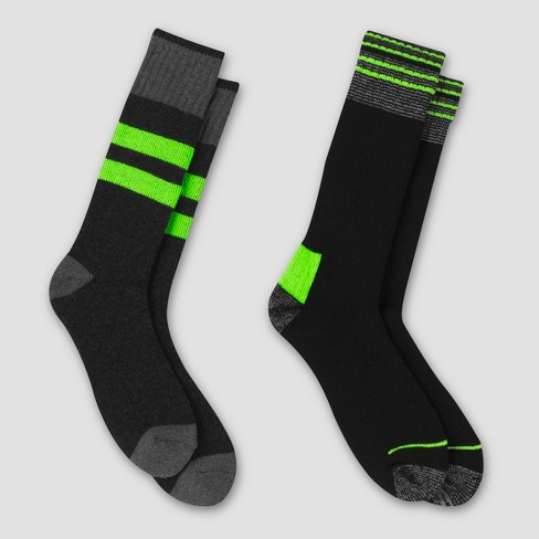 Men's Outdoor Heavyweight Wool Blend Thermal Crew Socks 2pk - C9 Champion® 6-12 - image 1 of 3