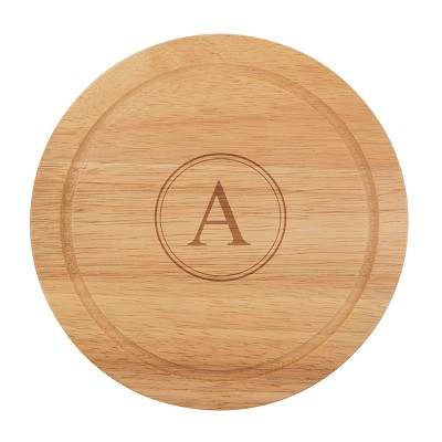 Cathy's Concepts Monogram Acacia Wood 5pc Serving Tray with Tool Set A